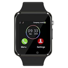 Smart Watch – 321OU Touch Screen Bluetooth Smart Wrist Watch Smartwatch Phone Fitness Tracker with SIM SD Card Slot Camera Pedometer for iPhone iOS Samsung LG Android for Women Men Kids (Black)
