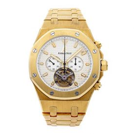 Audemars Piguet Royal Oak Mechanical (Hand-Winding) Silver Dial Mens Watch 25977BA.OO.1205BA.02 (Certified Pre-Owned)