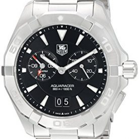 Tag Heuer Aquaracer Chronograph Black Dial Stainless Steel Mens Watch WAY111Z.BA0928