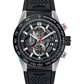 Tag Heuer Carrera Skeleton Dial Automatic Mens Chronograph Rubber Watch CAR201V.FT6046