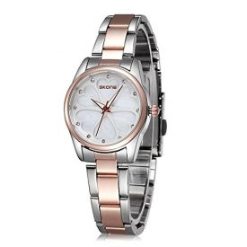 Ladies Waterproof Stainless Steel Wrist Watch for Women – Female Rose Gold, Silver