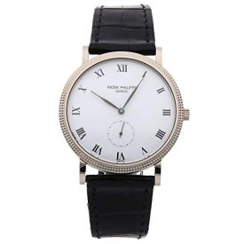Patek Philippe Calatrava Mechanical (Hand-Winding) White Dial Mens Watch 3919G (Certified Pre-Owned)