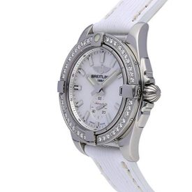 Breitling Galactic Mechanical (Automatic) Mother of Pearl Dial Womens Watch A3733053/A788 (Certified Pre-Owned)