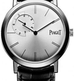 Piaget Altiplano Men's White Gold Ultra-Thin Hand-Wound Mechanical Silver Dial Swiss Made Watch G0A33112