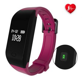 fitpolo Fitness Tracker, Heart Rate Monitor Activity Tracker Watch, IP67 Waterproof Smart Bracelet, Smart Watch with Calorie Counter,Sleep Monitor,Pedometer Watch for Kids Women and Men