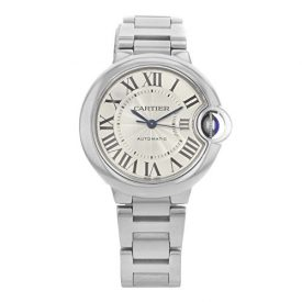 Cartier Ballon Bleu Automatic Silver Flinque Dial Ladies Watch W6920071
