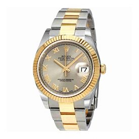 Rolex Datejust 36 Rhodium Dial Steel and 18K Yellow Gold Mens Watch 116233RRO