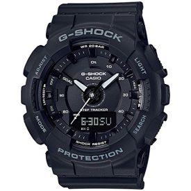Ladies' Casio G-Shock S-Series Black Step Tracker Watch GMAS130-1A