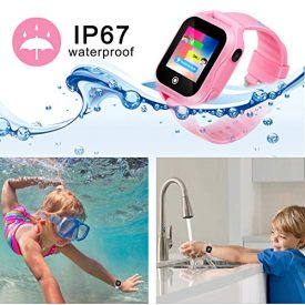 Pink Smart Watch for Girls with GPS Tracker