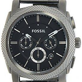 Fossil Men's FS4662 Machine Chronograph Stainless Steel Watch – Smoke