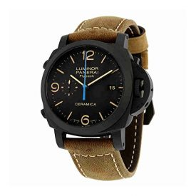 Panerai Luminor 1950 3 Days Chrono Flyback Black Dial Automatic Mens Watch PAM00580