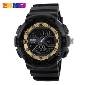 YCDC Golden Men Watches Outdoor Quartz Sports Wristwatches Fashion Casual Multifunction 50M Waterproof Watch Boy Relogio Masculino