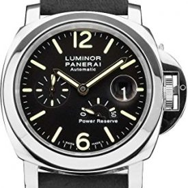 NEW Panerai Luminor Power Reserve Automatic Acciaio Black Dial Men's Watch PAM01090