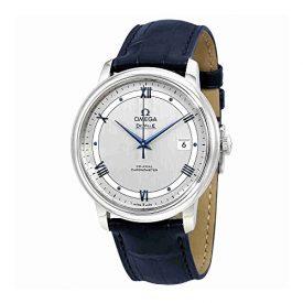 Omega De Ville Automatic Co-Axial Chronometer Blue Leather Strap 424.13.40.20.02.003