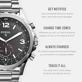Fossil Hybrid Smartwatch – Q Nate Stainless Steel