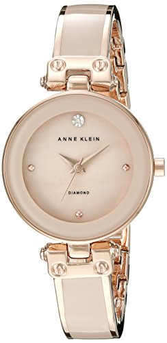 Anne Klein Women's AK/1980BMRG Diamond-Accented Dial  Watch