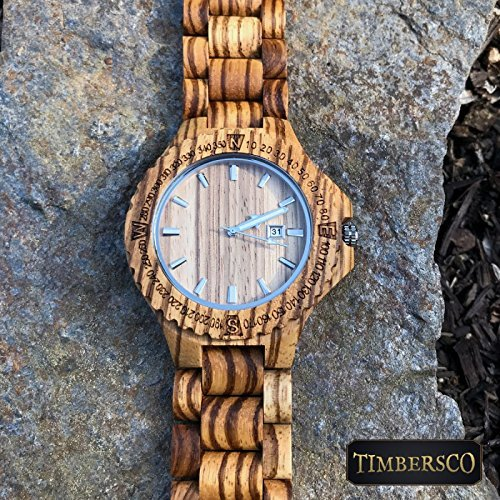 Wood Watch Argos Mens Womens Zebrawood Wooden Wrist Watch – Free Engraving